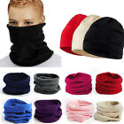Snood Scarf Winter Hat Fleece Neck Warmer Balaclava Men Women Black Ski Mask New