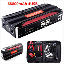 12V Portable 68800mAh 4USB Car Jump Starter Battery Charger Power Bank Booster