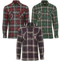 Mens Check Shirt Casual Long Sleeve Collared Cotton Classic Fit Shirts M - 3XL