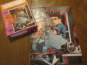 Whitman 1968 Thunderbirds Gerry Anderson 100 Piece Jigsaw Puzzle Complete In Box
