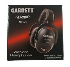 Garrett Ms-3 Z-Lynk Wireless Headphones Nib