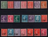 CZ145379/ FRANCE – YEARS 1924 - 1931 MINT MNH / MH SEMI MODERN LOT – CV 155 $
