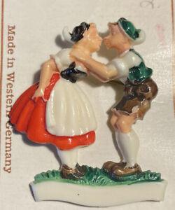 Vintage W German Painted Folk Art Pin EUC.  RARE