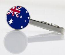 Gift Bag Silver Tone Austrialian Flag Australia Tie clip clasp Bar Ozzy L=5.5cm