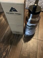 Ozark Trail Double Wall Insulated Stainless Steel Water Bottle Wide Mouth 36oz