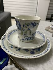 Vintage Figgio figgjo Lotte 1058 Norway Trio Cup Saucer And Cake Plate