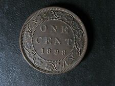 1 cent 1898H Canada one penny copper coin large Queen Victoria c ¢ EF-45