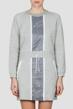 WOMENS NIKE TECH FLEECE SPLATTER DRESS SIZE M (803020 063) GREY/ WHITE