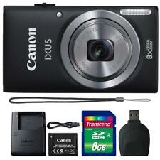 Canon IXUS 185 / ELPH 180 20MP Digital Camera Black and 8GB Accessory Kit