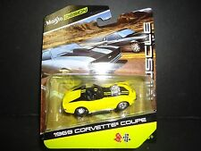 Maisto Chevrolet Corvette 1969 Yellow 1/64