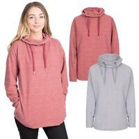 Trespass Jeannie Womens Fleece Hoodie Jumper With Hood Pink & Grey