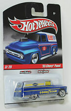 Hot Wheels Delivery Slick Rides '55 Chevy Panel Good Year REAL RIDERS 1:64