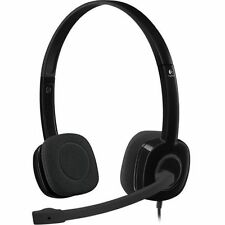 Logitech H151 Wired Stereo Headset - Black