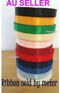 1 Metre 13mm Satin Ribbon Scrapbook School Wedding Gift wrap hair bow tie Decor