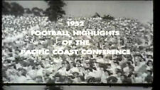 1952 Pacific Coast Conference FB Highlights DVD Johnny O Sears Moomaw  FREE SHIP