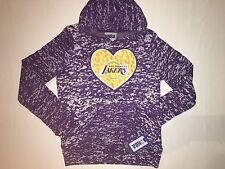 NWT NBA LAKERS basketball hoodie sweater long sleeve GIRL size XL 14/16 purple