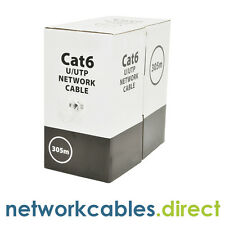 CAT6 U/UTP Network Cable 305m Grey Solid OFC Copper