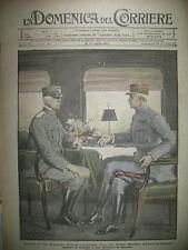 WW1 SAN GIOVANNI DI MORIANA Gaux CADORNA ET FOCH LA DOMENICA DEL CORRIERE 1917