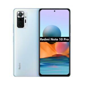 """#3558 Cellulare Smartphone Xiaomi Redmi Note 10 Pro 6,67"""" 6+128GB Glacier Blue"""