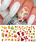 Autumn - Fall Leaves Nail Art Waterslide Decals Set 2 - Salon Quality