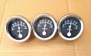 "Ammeter 2"" 60-0-60, Ampere Meter for Car, Trucks, Tractors, Bus, Generator 3 PCS"