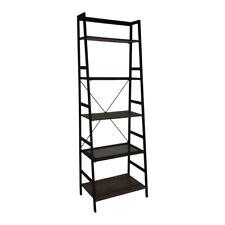 5-Tier Ladder Shelf Bookcase(Black)