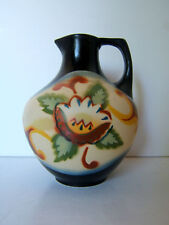 Art Pottery Gouda Style Handed Painted Floral Pitcher Vase #206  6 1/2""