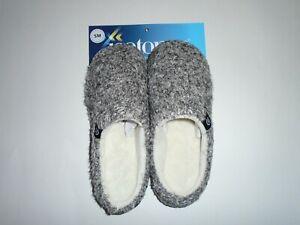 Isotoner Women's Eyelash Knit Hoodback Slipper Oatmeal Size SM 5-6 New Tags