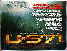 U-571 UK QUAD FILM POSTER