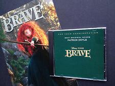 Rare! Oscar FYC promo! Patrick Doyle's BRAVE CD unreleased complete 44-trk score