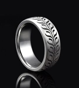 silver wedding  ring 925 Hallmark 7.5 mm laser engraved Hatton garden made