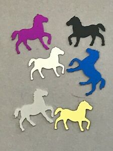 Dancing Horse Confetti, Black, White, Silver, Gold, Purple, Blue