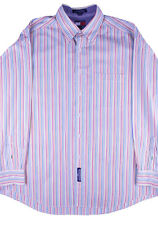 Tommy Hilfiger Color Striped Button-up Shirt Long Sleeve Men's Size 17 (34-35)