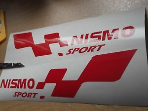 NISMO sport  LARGE  decal ..on 12 year vinyl..x2