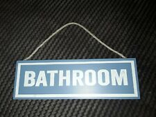 Bathroom Wooden Door Sign Plaque Hanging Shabby Chic Chalk Effect