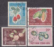 South VIETNAM  1967 used SC#301/304 set,  Shrub fruit.
