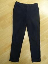 WAREHOUSE ladies navy blue smart tapered leg trousers UK 8 EXCELLENT COND