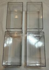4x Clear Acrylic Display Case Lot Great For Funko, Star Wars, Nendoroid, So Much
