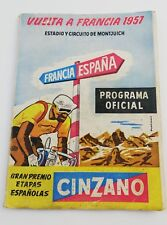 OFFICIAL PROGRAM TOUR FRANCE 12 13 JULY 1957 BARCELONA CYCLIST CICLYNG VINTAGE