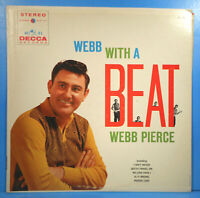 WEBB PIERCE WEBB WITH A BEAT LP 1960 ORIGINAL STEREO GREAT CONDITION! VG++/VG+!!