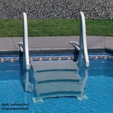 Inground Swimming Pool Ladder In Ground Stair Case Steps Deck Access Easy Entry