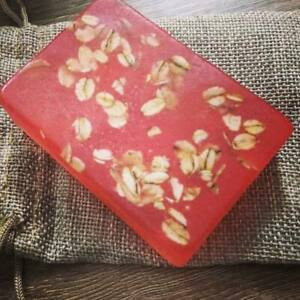 Rose Water and Oatmeal Soap 100% Handmade Beautiful Bright Face