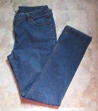 SO BLUE Stretch Denim Mid-rise Slender Boot-cut JEANS ~ Size 17  38x33