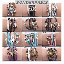 LEDERARMBAND INFINITY Perle Armband LOVE Wickelarmband EULE Shamballa Vintage
