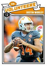 ACEO JUSTIN WORLEY TENNESSEE VOLUNTEERS CUSTOM HAND MADE ART CARD