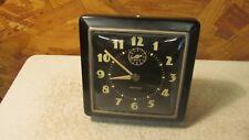 Old Westclox Square Black Alarm Clock