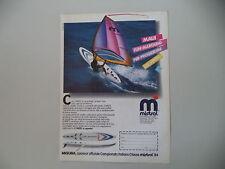 advertising Pubblicità 1984 SURF MAUI MISTRAL
