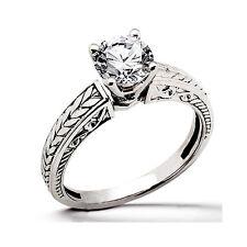 Joya De Oro Anillos Diamantes 1,0 Quilates Solitario Platino Top Wesselton Nuevo