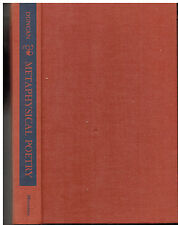 The Revival of Metaphysical Poetry - History of Style- Joseph Duncan SIGNED 1959