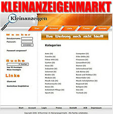 KLEINANZEIGENMARKT/ANZEIGENMARKT - PHP-Portal/Script - diverse Lizenzarten